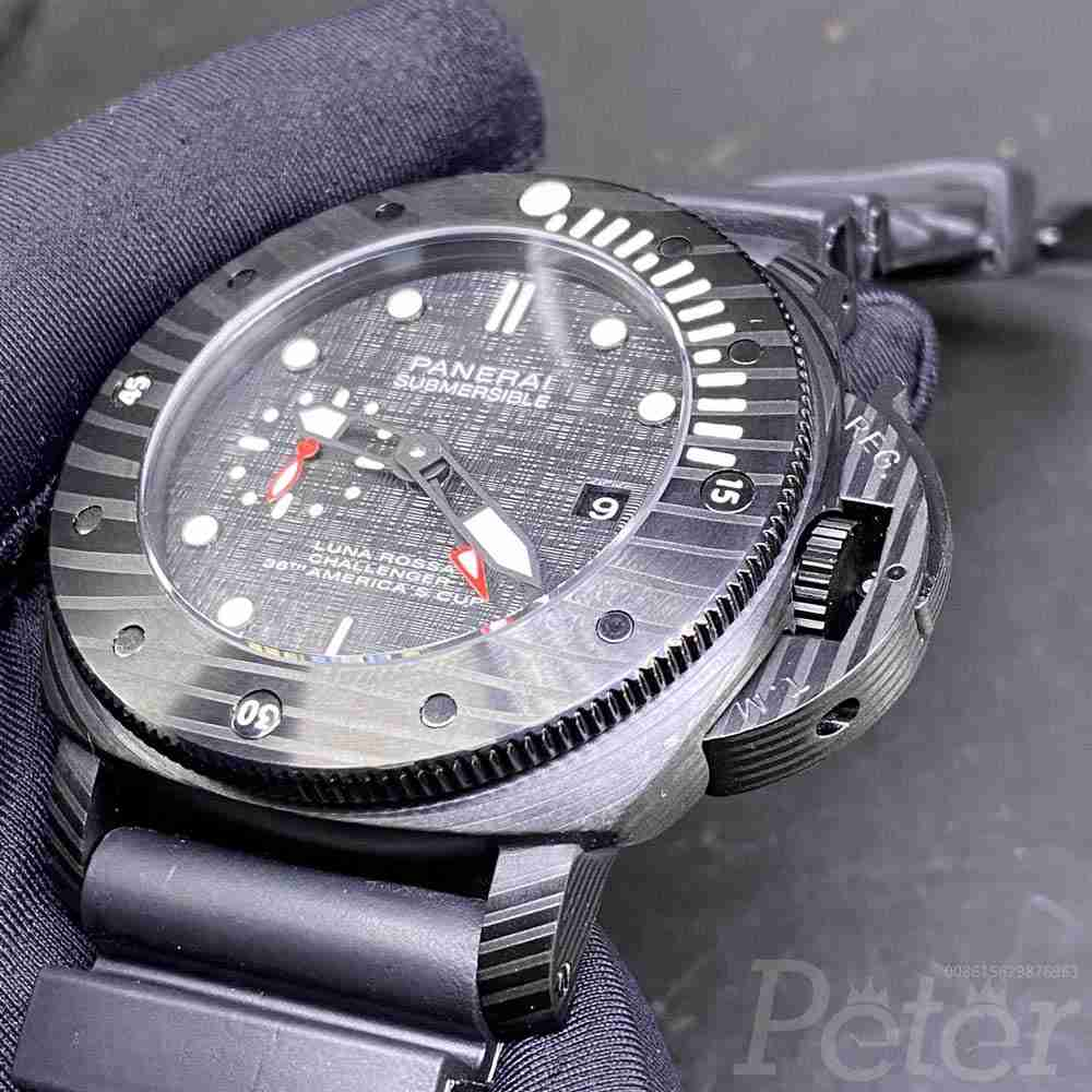 Panerai Submersible black case 47mm black rubber strap AAA automatic HZ050