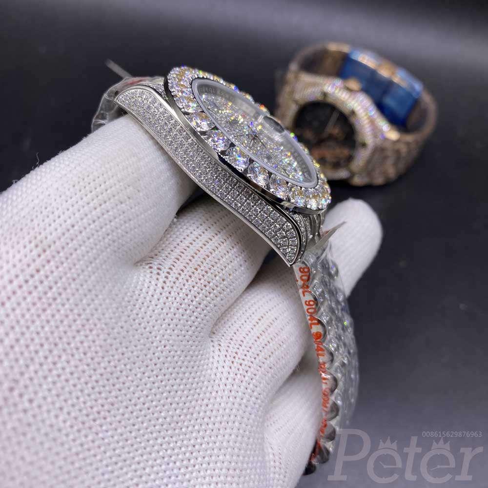Datejust 42mm prongset diamonds bezel colorful Arabic numbers AAA automatic jubilee band BL102