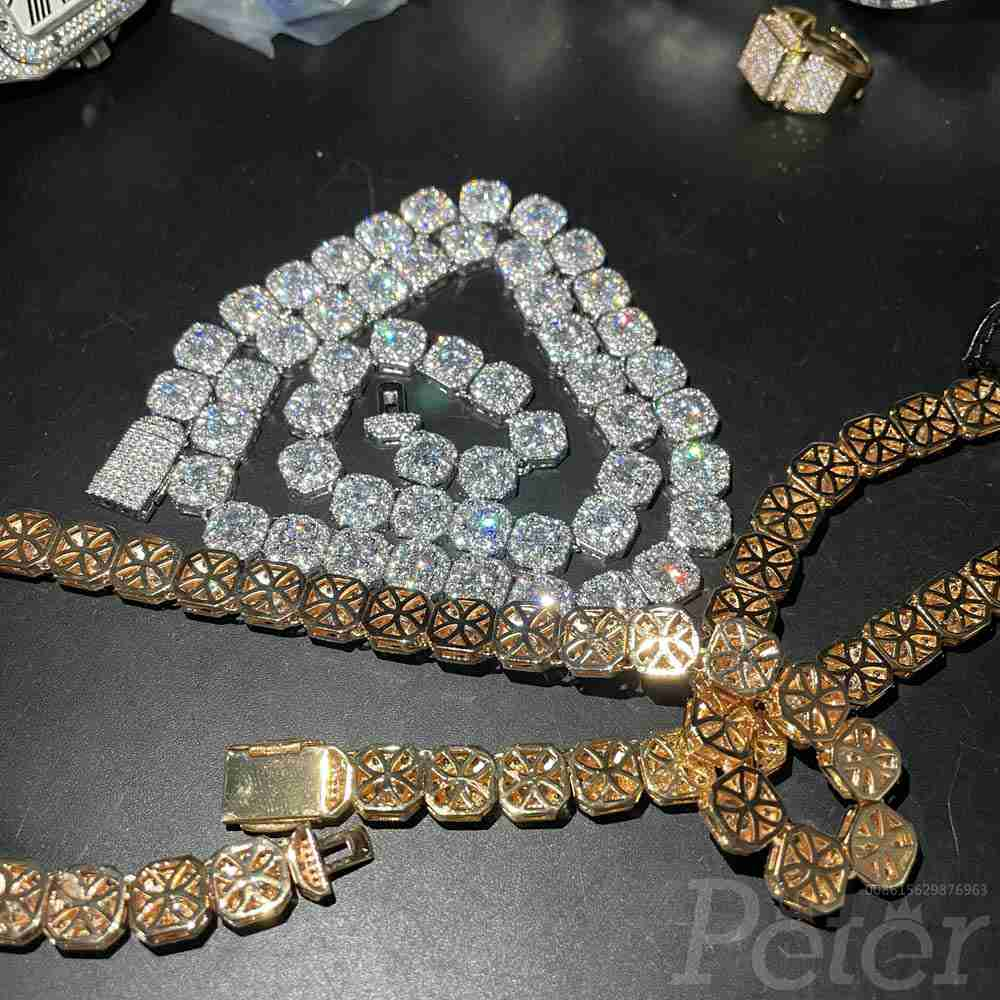 Diamonds Necklace 20inch gold color silver color both available shiny zircon stones J020