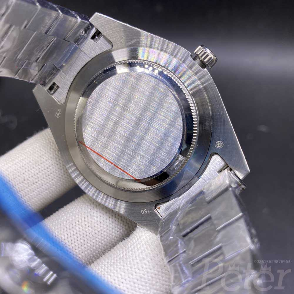 DayDate 43mm full diamonds silver case gray dial roman numbers pronset bezel AAA automatic S090