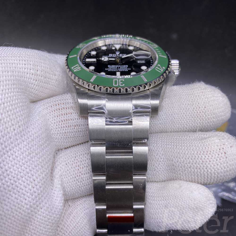 SUB 41mm 1:1 VS factory 3235 movement 904L stainless steel black dial green ceramic WT245