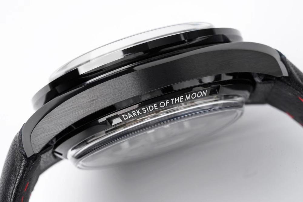 Omega Speedmaster black dial black case black leather full works chronometer 9300 automatic XD