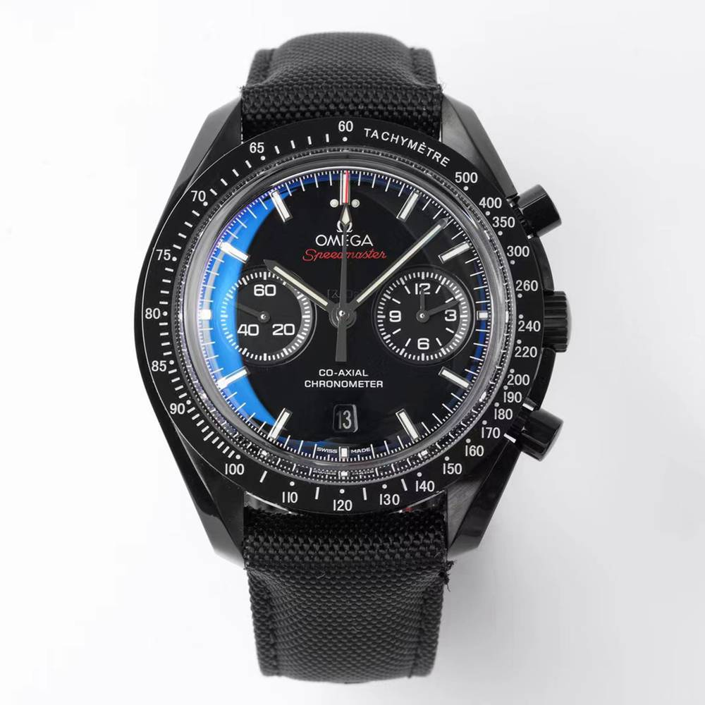 Omega Dark side of the Moon thickness 17.2mm all black full works 9300 automatic XD