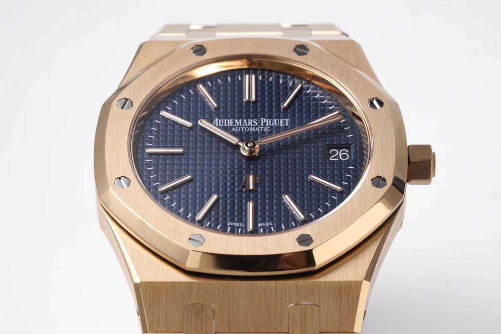 AP rose gold case 39x8.6mm blue dial ZF factory Cal.2121 automatic thin case top quality