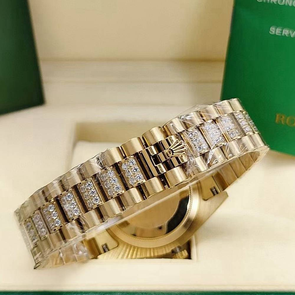 DayDate gold case 41mm Arabic numbers diamonds face AAA automatic Men watch S045