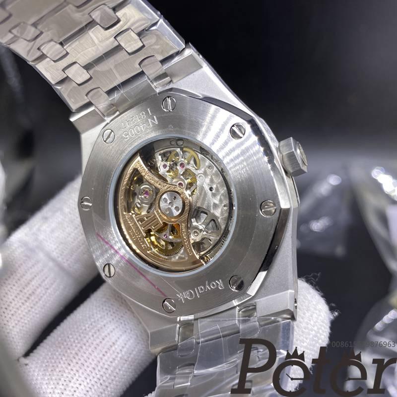 AP skeleton silver case 42mm AAA automatic men replica watch YC038