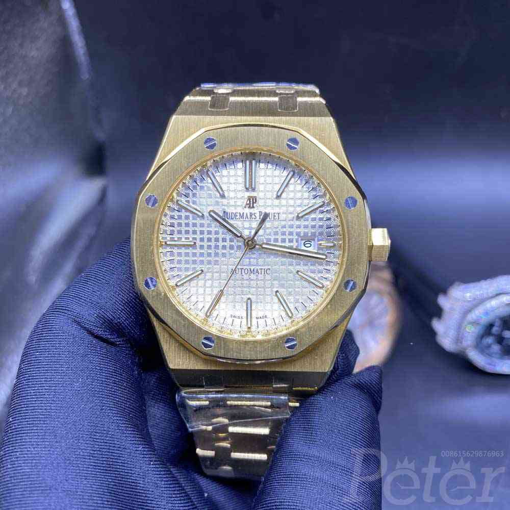 AP gold and rose gold case 42mm AAA automatic white dial men watches YC031