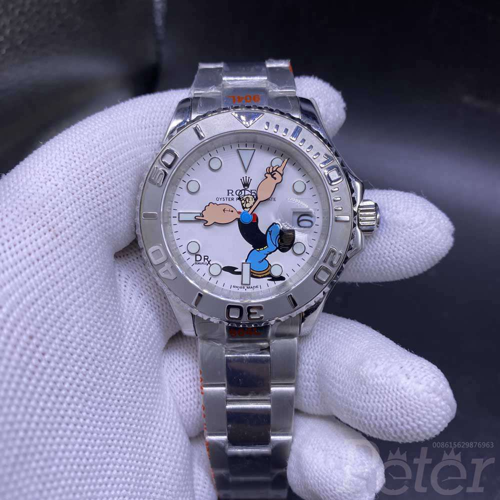YM Popeye dial silver/white AAA stainless steel case automatic WS068