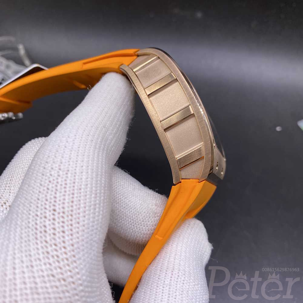 RM035 Americas rose gold case 42x50mm Orange rubber strap Miyota automatic XD090