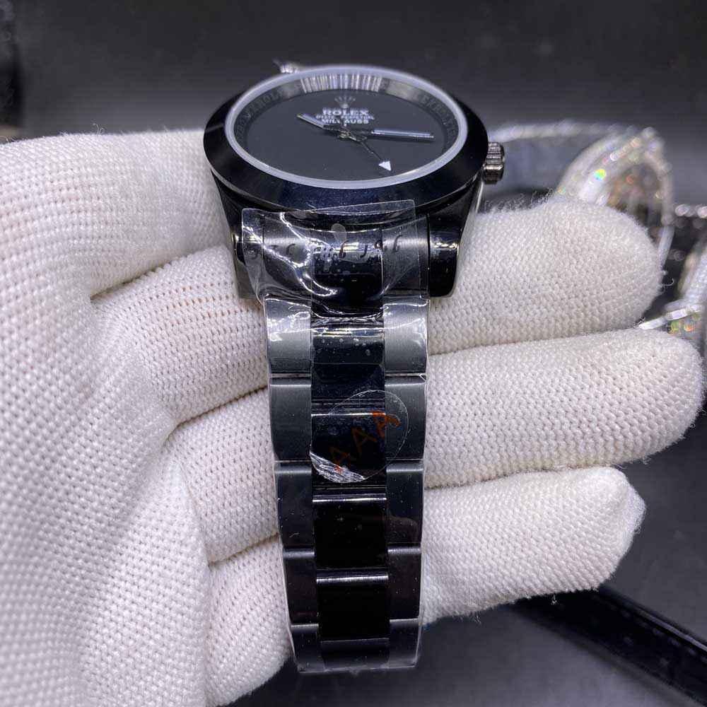Milgauss 39mm black case black dial AAA automatic 2813 men replica Rolex MH024