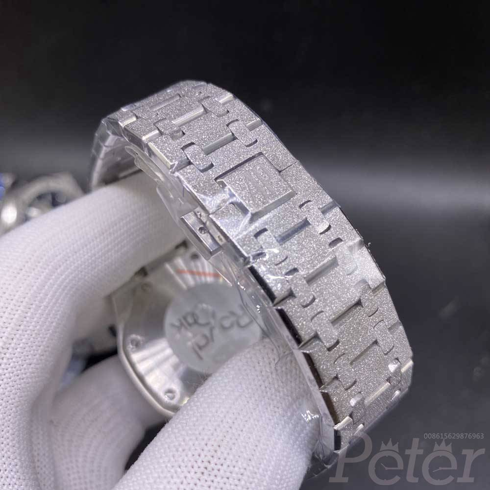 AP frosted silver case 42mm silver/blue/black dials chronograph VK quartz AAA XJ036