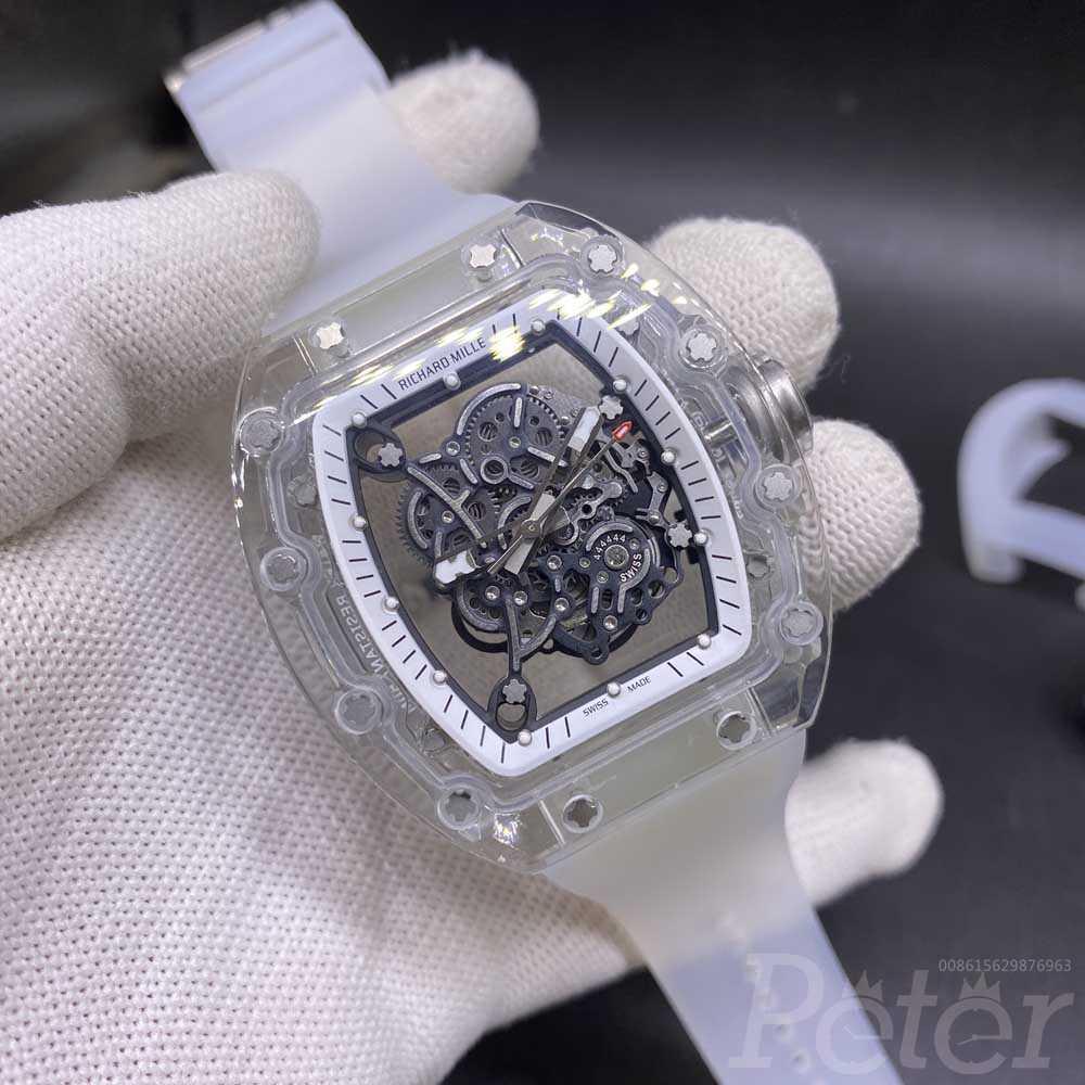 RM055 Miyota automatic see-through AET glass case 44x50mm high grade XD150
