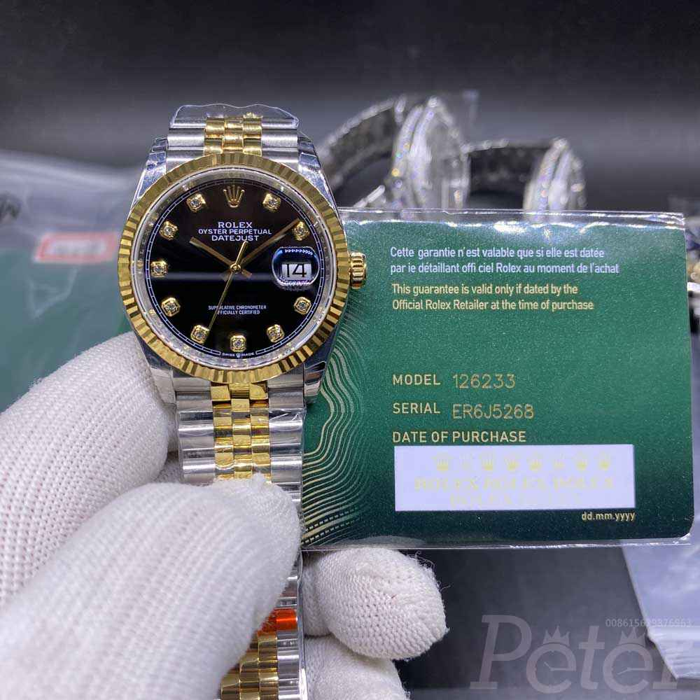 Datejust two tone gold 36mm EW 3235 automatic Swiss 1:1 jubilee band WT125