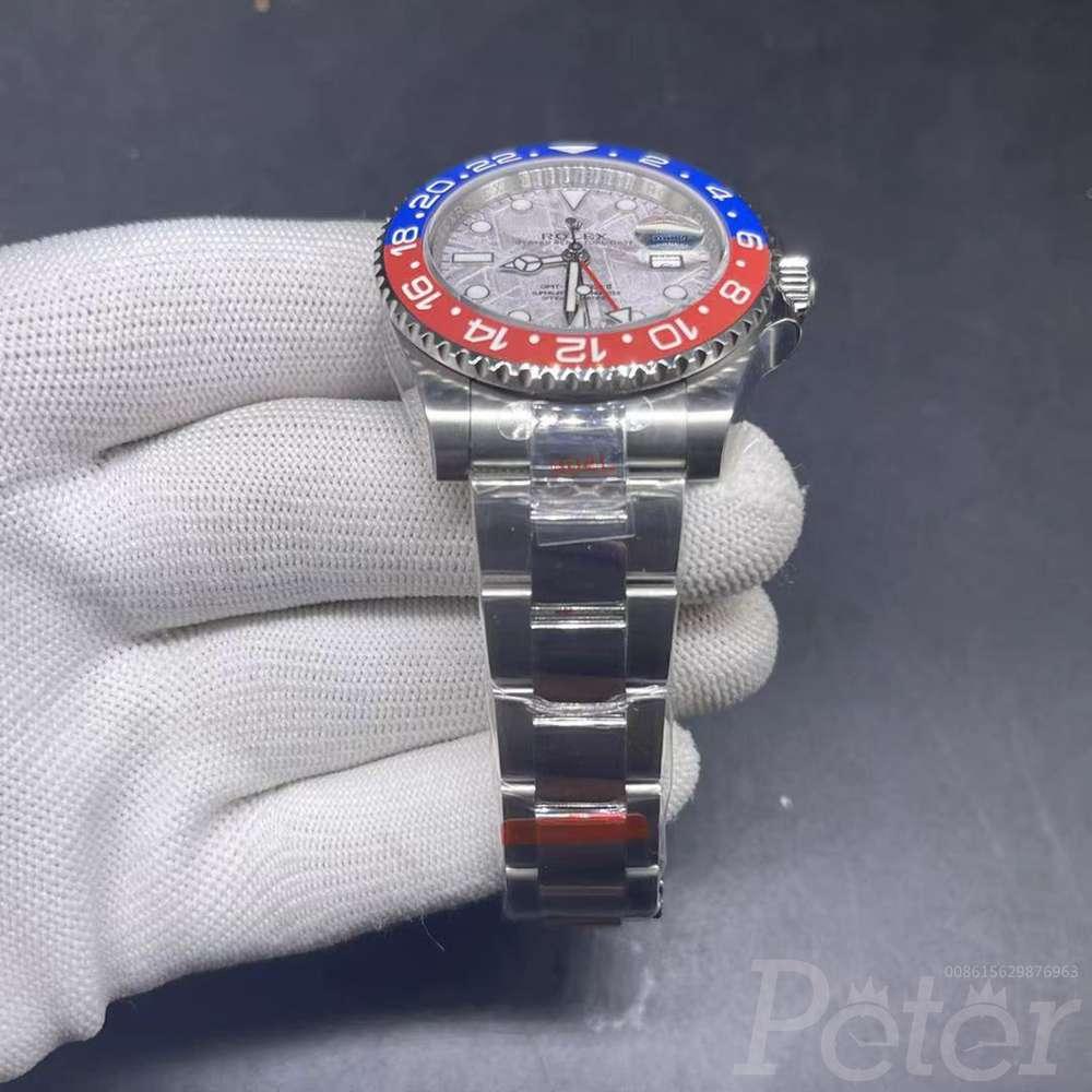 GMT Meteorolite face blue/red ceramic bezel EW 3186 movement high quality WT145
