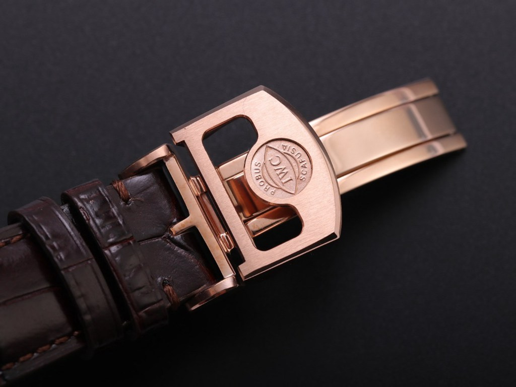 IWC Perpetual calendar rose gold case 41mm white dial brown leather V9 factory Swiss grade M170