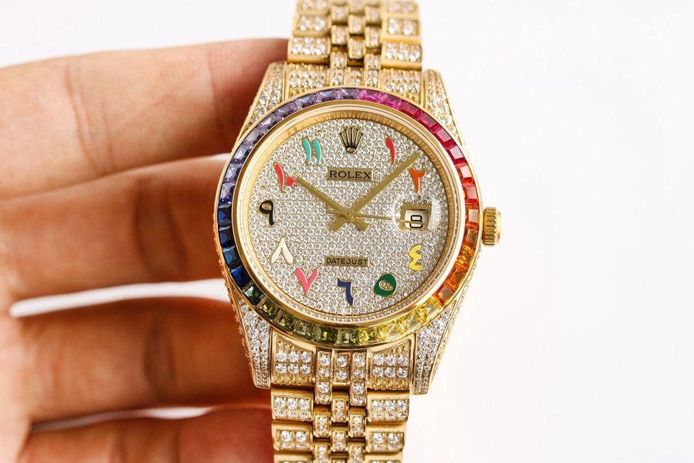 Datejust diamonds gold case 41mm arabic numbers automatic 3255 Swiss 1:1 grade XD230