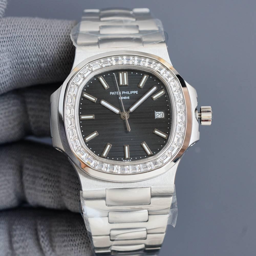 Patek Nautilus 5711/1A 40mm white/black/green/blue dials silver case Cal.324 automatic WS080