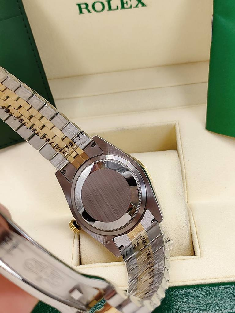 Datejust 2tone gold 36mm Palm leaf dial diamonds bezel jubilee band AAA automatic S025