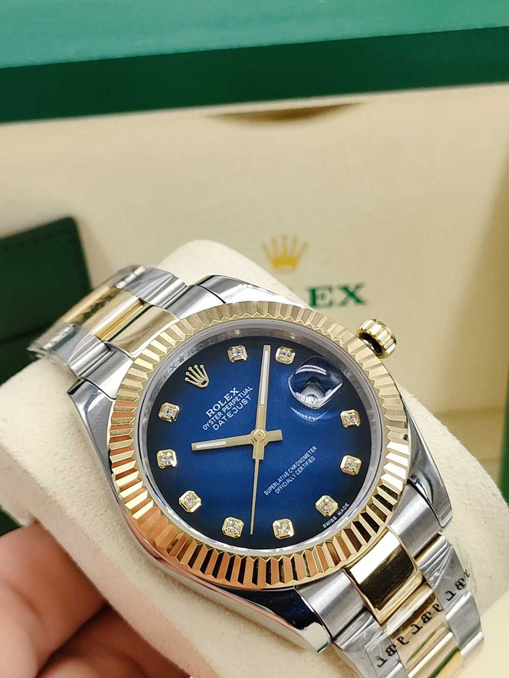 Datejust 41mm two tone gold blue/red dials AAA automatic 4 different models S025