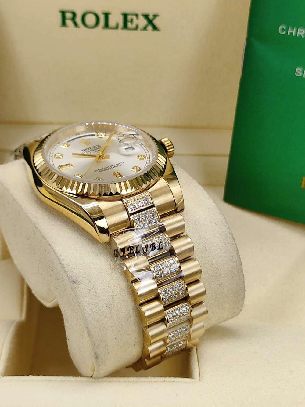 DayDate 36mm gold/silver diamonds strap AAA automatic 2813 S040