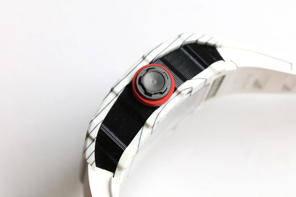 RM35-02 RAFA Z factory Carbon white case white rubber strap Seiko automatic men watch XD15