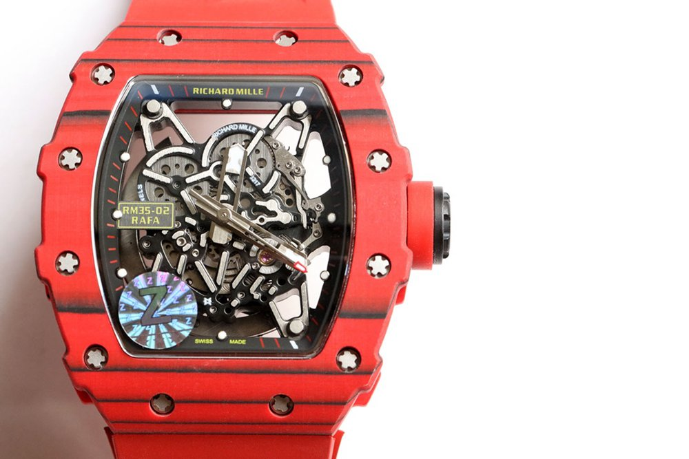 RM35-02 Z factory Carbon red case skeleton dial red rubber strap high quality Seiko automatic X15