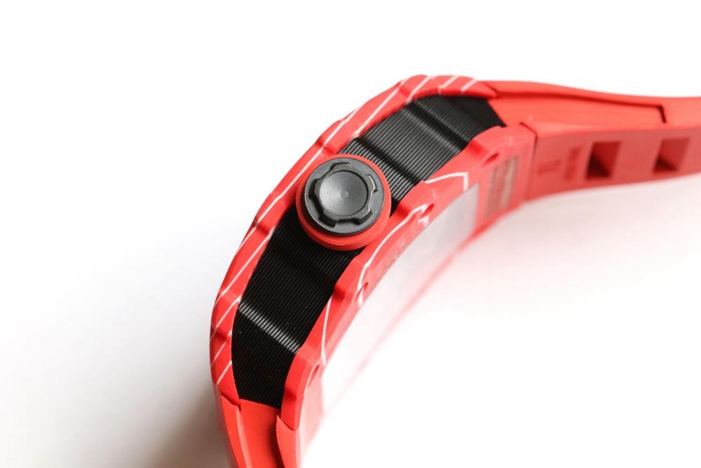 RM35-02 RAFA Z factory Carbon red/white case rubber strap men Seiko automatic XD015