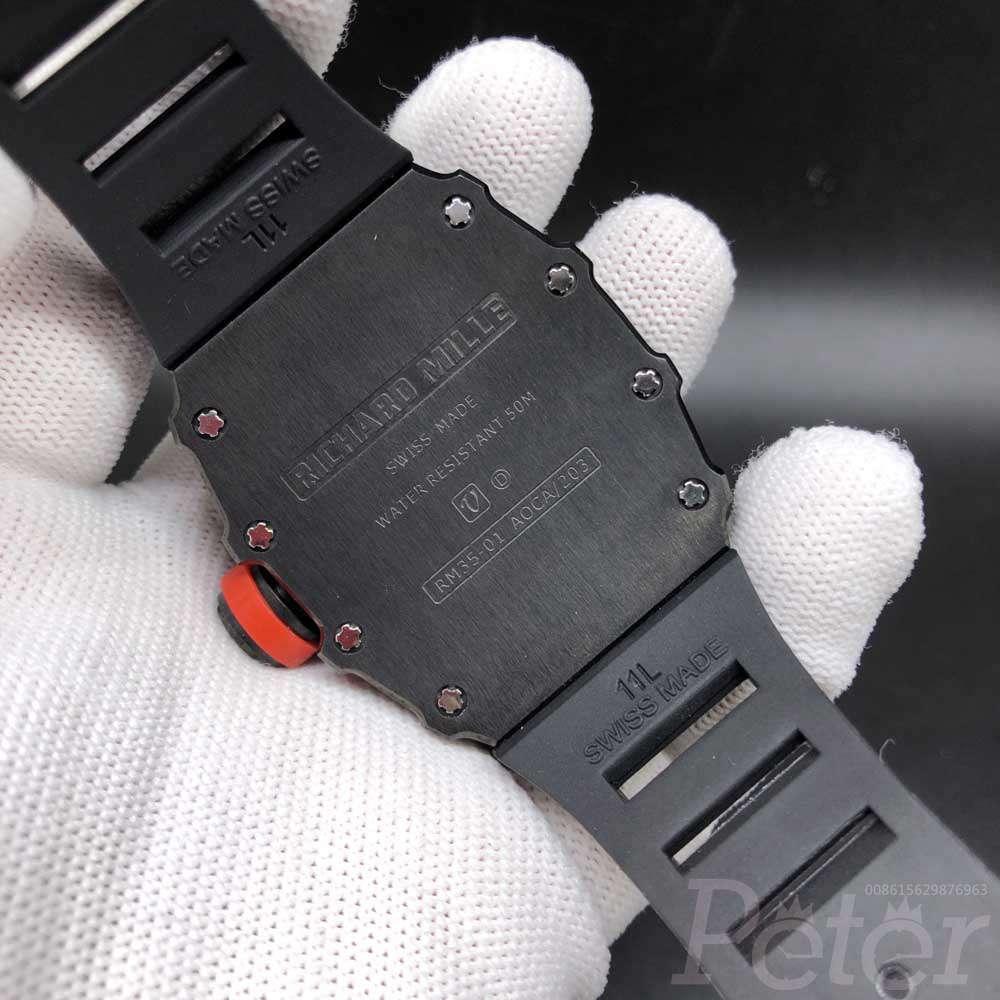 RM35-01 RAFA all black stainless steel case black rubber strap Miyota automatic HL065