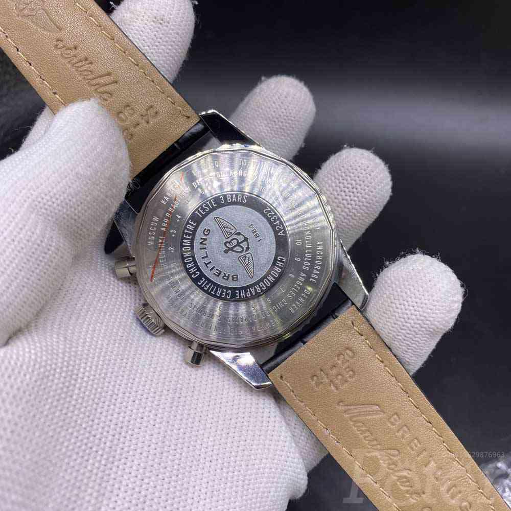 Breitling silver/black 46mm quartz movement AAA grade chronometer full works men's stopwatch M