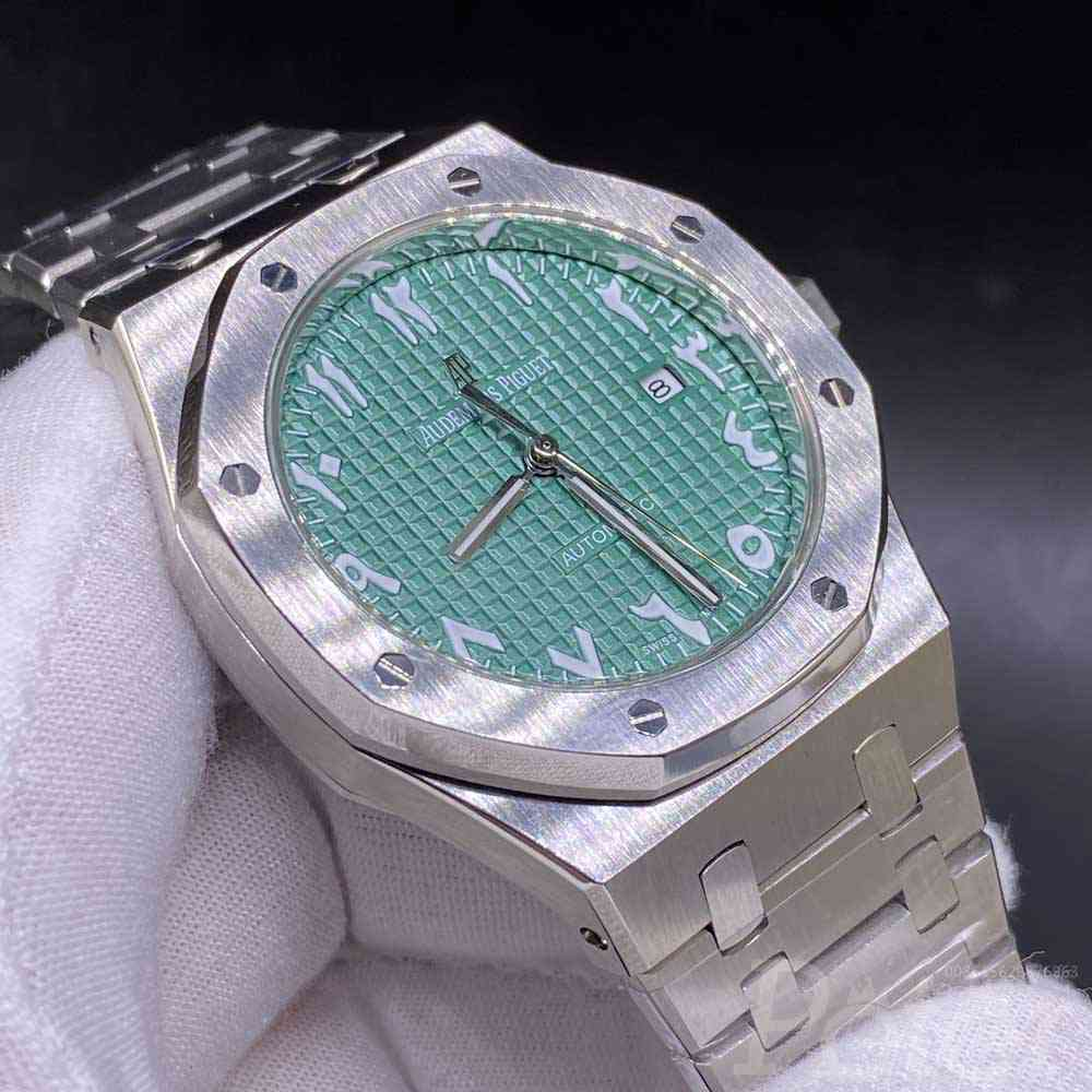 AP stainless steel case 42mm AAA automatic 2813 movement green face Arabic numbers YC028