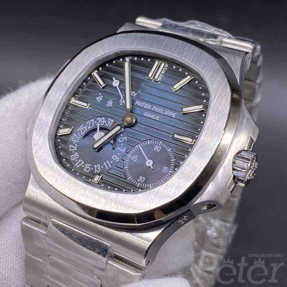 Patek Philippe 5712GR silver/blue ZF factory top grade Cal.240 PS IRM C LU all works WT320