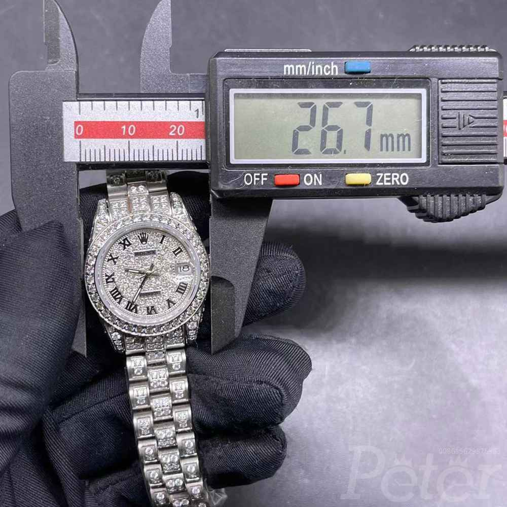 Datejust diamonds silver case 26mm roman numbers AAA automatic women shiny watches MH092
