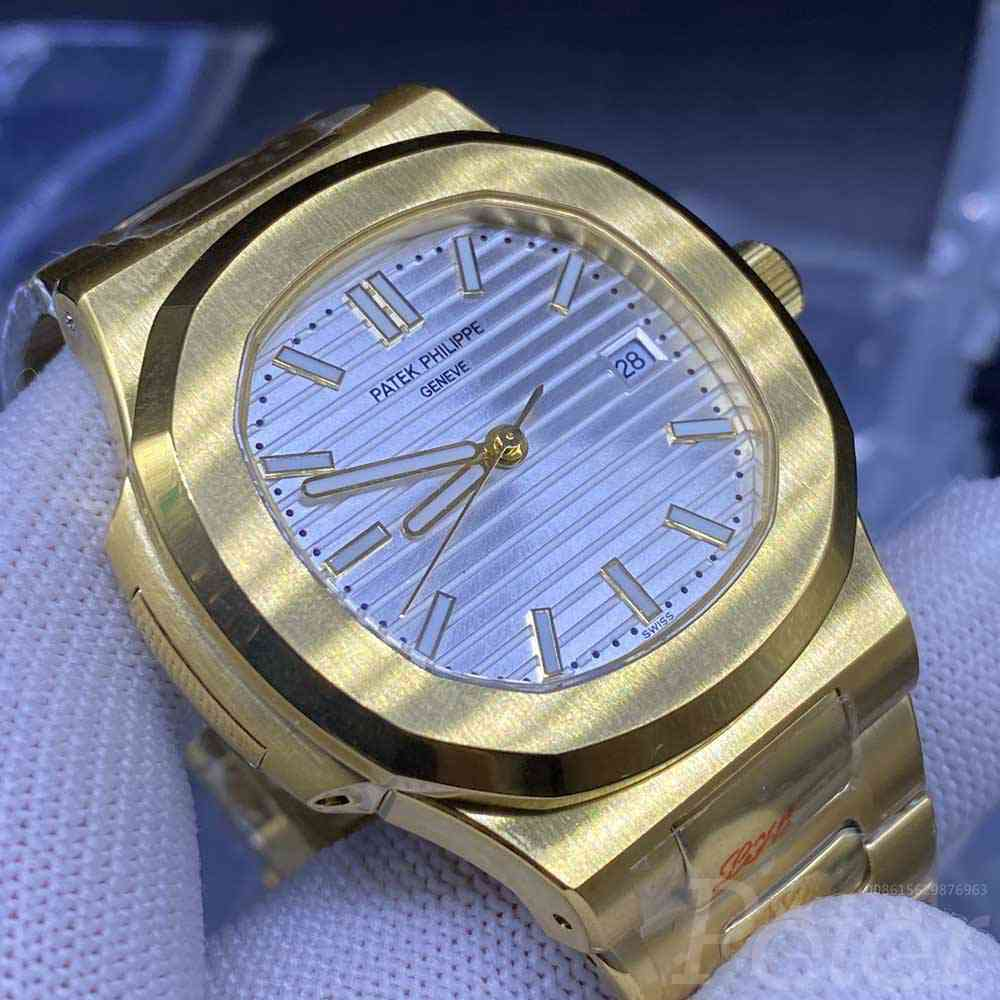 Patek 40mm yellow gold case white dial AAA automatic engraved movement men watch YC029