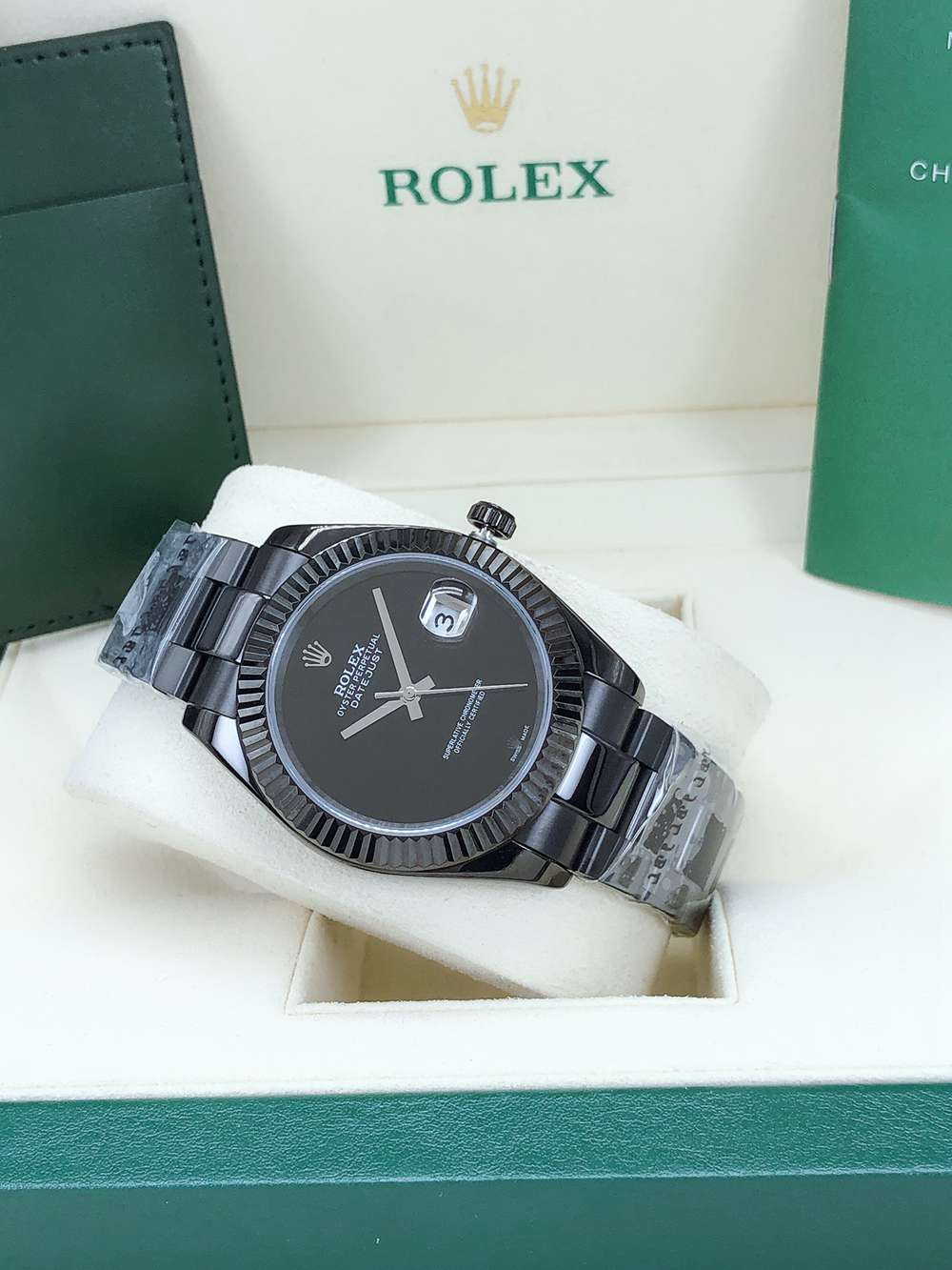 Datejust 41mm all black case black dial oyster band AAA automatic 2813 movement men's watch