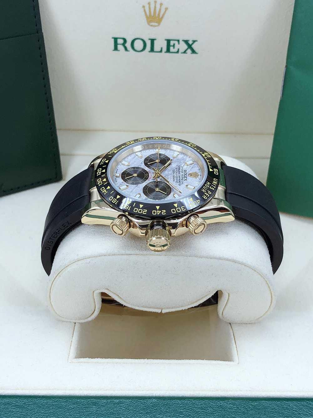 Daytona meteorite dial gold case 40mm black Oysterflex rubber strap AAA automatic 2813 men's