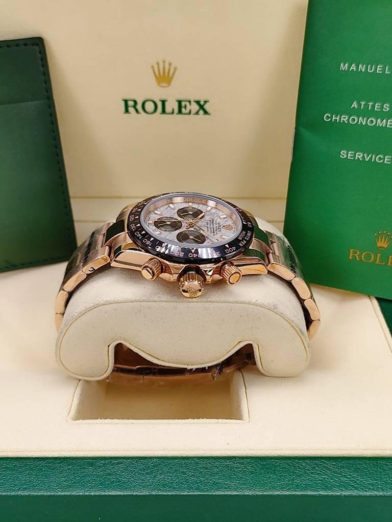 Daytona Meteorite face rose gold case black bezel 40mm AAA automatic men watch S023