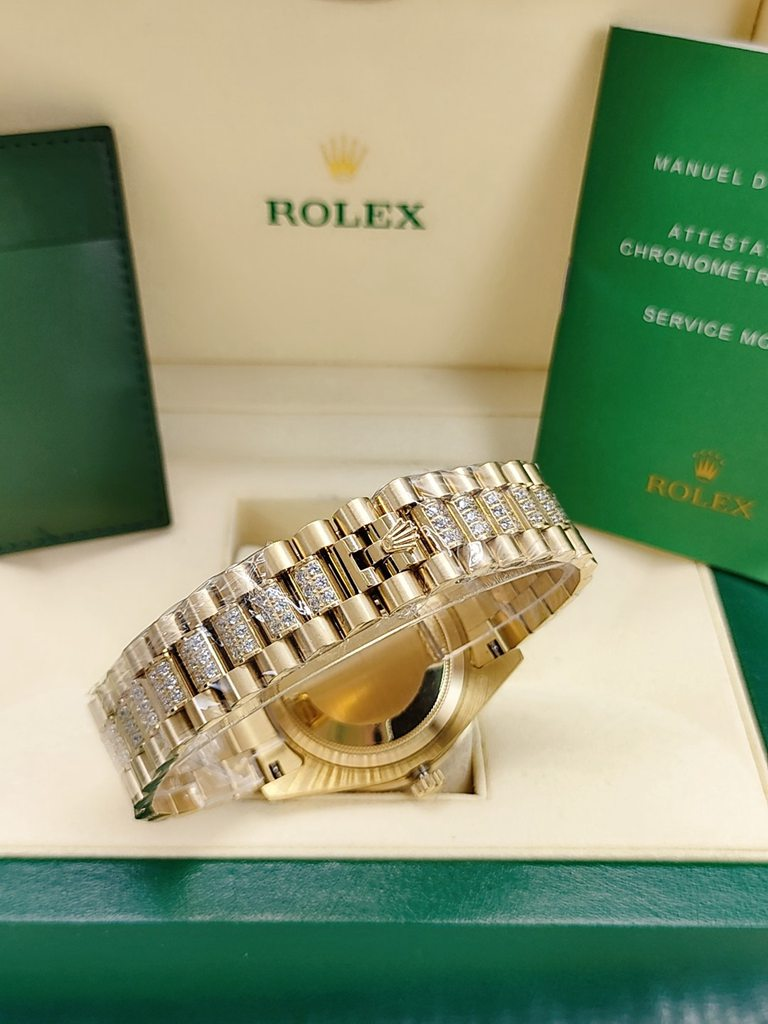 DayDate gold case 44mm diamonds strap Roman numbers AAA automatic men watch S045