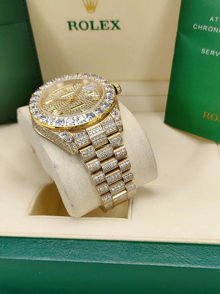 DayDate 43mm diamonds gold case AAA automatic Roman numbers men S095
