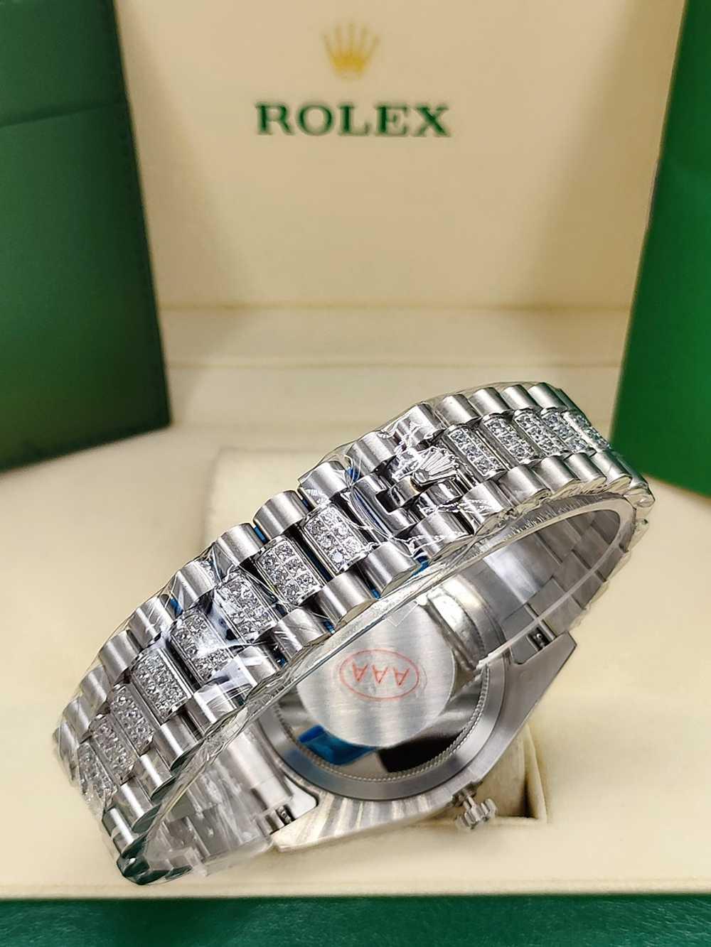 DayDate 41mm diamonds bezel white dial roman numbers diamonds strap AAA automatic S040