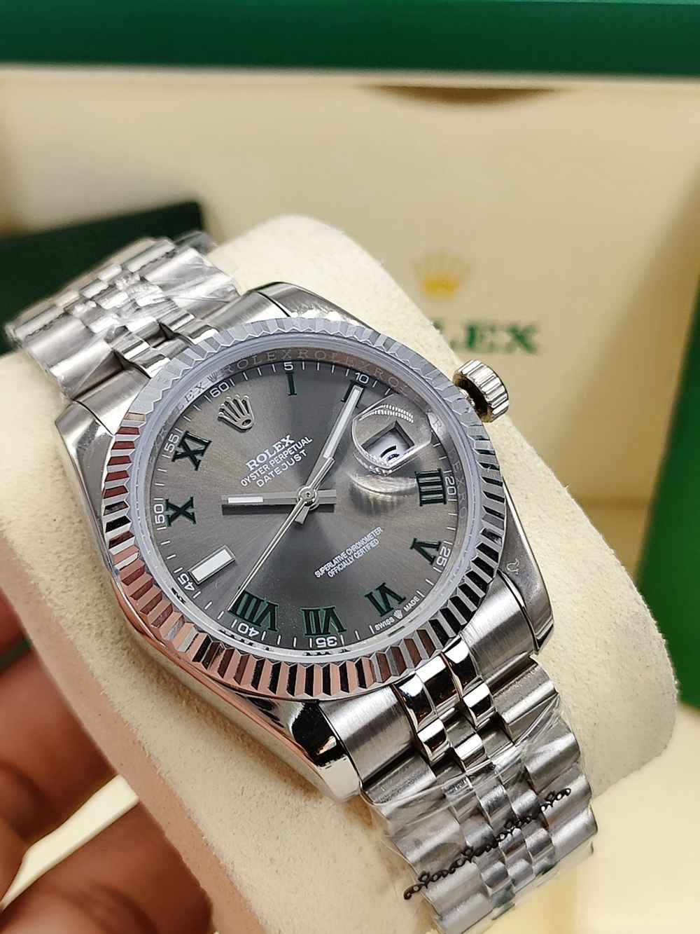 Datejust 36mm silver/gray Roman numbers jubilee band women AAA automatic movement S