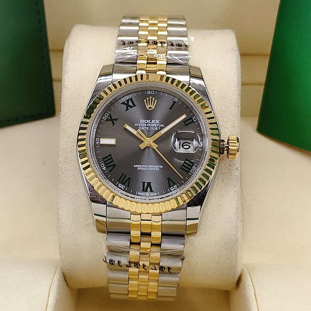 Datejust 36mm 2tone gold case gray dial roman numbers jubilee band AAA automatic women S