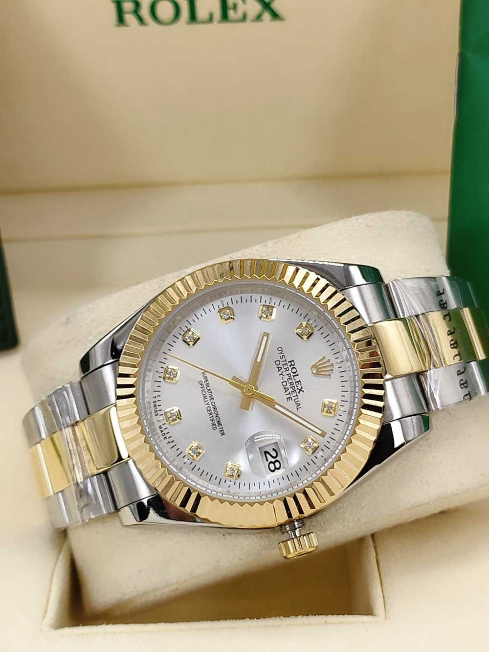 Datejust 41mm two tone gold case silver dial oyster band AAA automatic Men watch S