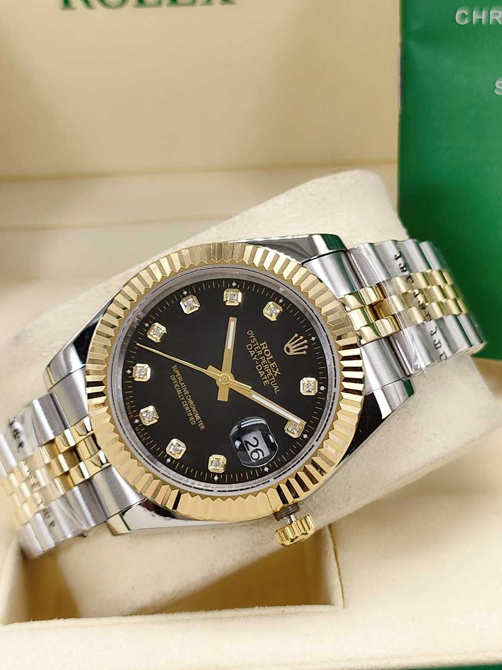 Datejust 41mm two tone gold case black dial jubilee band men automatic AAA watches S