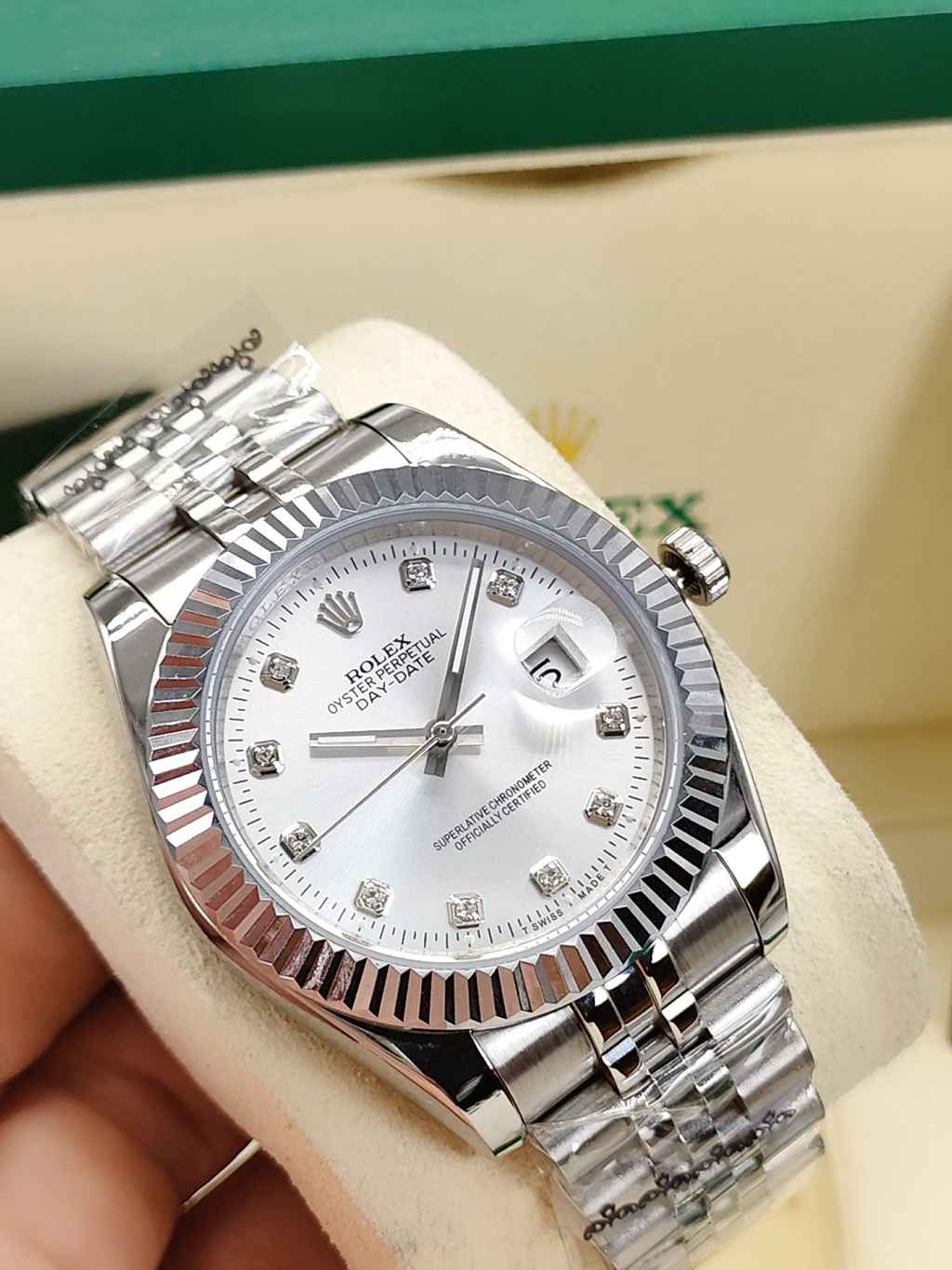 Datejust silver 41mm fluted bezel jubilee band AAA automatic 2813 movement men watch S