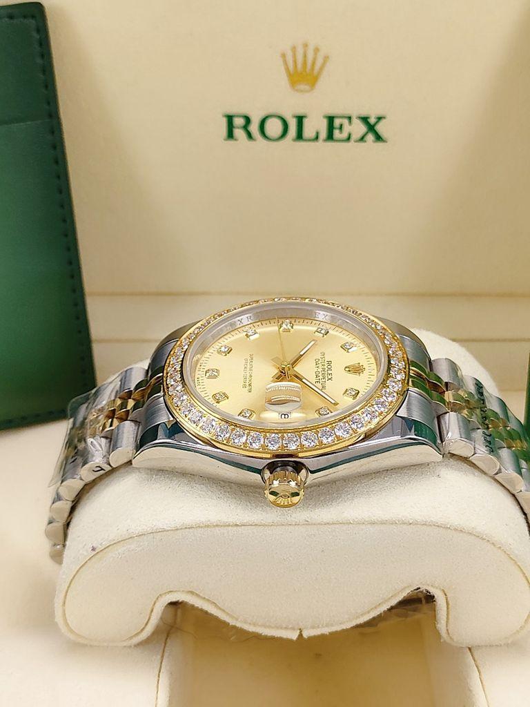 Datejust 2tone gold case 41mm diamonds bezel jubilee band men AAA automatic watches S