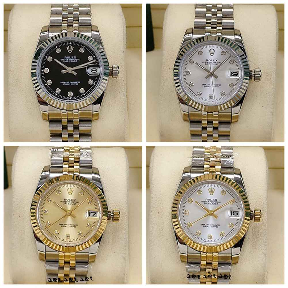 Datejust 31mm women size silver and two tone gold fluted bezel jubilee band AAA automatic S