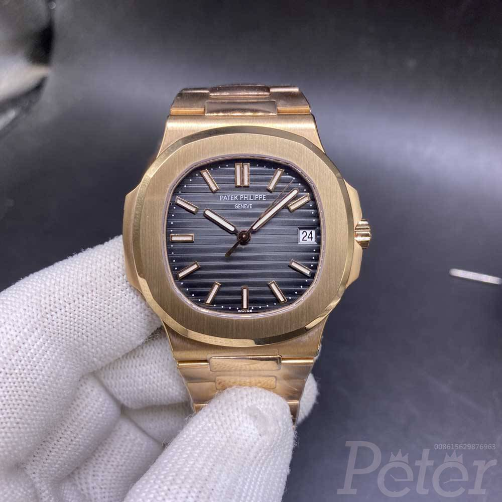 Patek Nautilus 5711 rose gold thin case 40mm gray dial Cal.324 automatic 1:1 grade best quality 一体机016